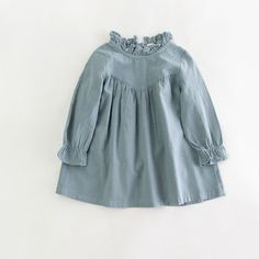 Good Value $9.51, Buy Retail children girl spring cotton and linen dress vintage baby girl Loose shirt dress high quality girl blouse autumn clothes