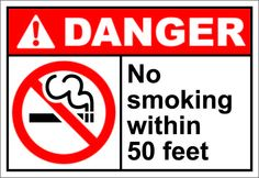 No smoking within 50 feet $1.64 #signs