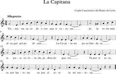 La Capitana. Copla. Cancionero del Reino de León.