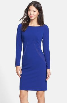 Adrianna Papell Mixed Media Sheath Dress available at #Nordstrom