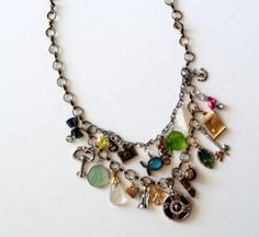Necklace made with different charms