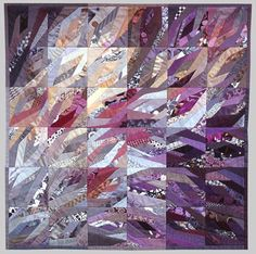 "Ursula Kern patchwork quilt called ""Monk's Mood"""