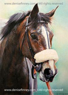An amazing painting of 'Kauto Star' by Denise Finney www.denisefinney.com