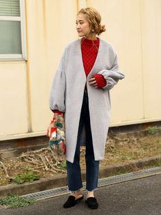 select MOCAのニット/セーター「【予約受付中】ボックスシルエット格子編み後ろ長めデザイン長袖ニット」を使ったMOCA(Web Official)のコーディネートです。WEARはモデル・俳優・ショップスタッフなどの着こなしをチェックできるファッションコーディネートサイトです。