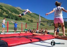 Before you learn your triks on snow, you have to learn them on a trampolines!