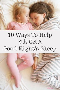 """Have you ever wished kids came with a """"sleep button""""? Well, they kind of do. smile emoticon  Here are ten research-backed tips for helping kids sleep better, including an acupressure point that helps them relax at bedtime. #sleeptips"""