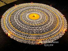 Easy Rangoli Designs Diwali, Indian Rangoli Designs, Rangoli Designs Latest, Rangoli Ideas, Colorful Rangoli Designs, Rangoli Designs Images, Kolam Rangoli, Beautiful Rangoli Designs, Simple Rangoli