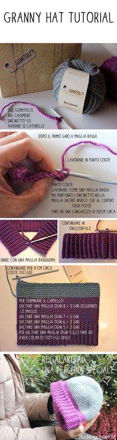 Tutorial cappello all'uncinetto: un progetto per principianti! | Le Funky Mamas Crochet Cross, Crochet Art, Knit Or Crochet, Irish Crochet, Crochet Stitches, Crochet Patterns, Knitting Projects, Crochet Projects, Yarn Inspiration