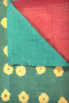 One of a Kind Hand Stitched Kantha Embroidered  Throw