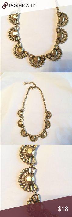 "J. Crew brass fan necklace J. Crew brass fan necklace, 16-20"" long. J. Crew Jewelry Necklaces"