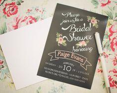 Wedding or Bridal Shower Chalkboard Invitation  by JustAPeekAHoo
