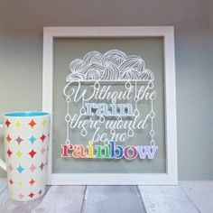 Without the rain there would be no rainbow papercut