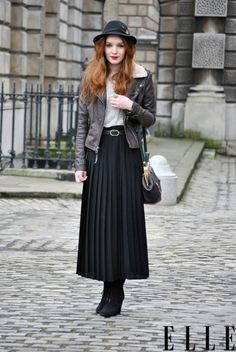 Street style in London (not my personal style, but I think she looks just beautiful and rocks it)