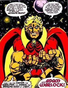 Adam Warlock by Jim Starlin. Marvel Comics Superheroes, Marvel Vs, Disney Marvel, Marvel Heroes, Comic Book Characters, Marvel Characters, Comic Character, Comic Books Art, Book Art