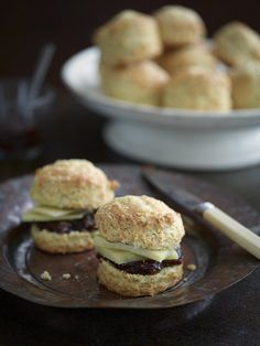 Cheese Scones with Fig & Vanilla Jam — Heart Home