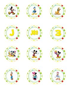 Mickey Mouse Clubhouse Birthday Party Cupcake Toppers- Digital File - DIY - Printable - Party Circles, Favor Tags. $2.99, via Etsy.