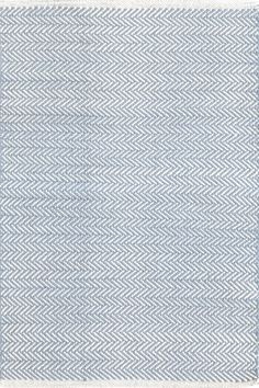 Herringbone Swedish Blue Woven Cotton You asked, and we listened! Another terrific Dash & Albert lightweight woven cotton area rug, this time in a classic herringbone pattern.