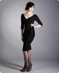 Long sleeve low cut dress