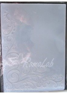 1 MASCHERINA Embossing FOLDER angolo con motivo floreale x BIG SHOT Cuttlebug