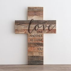 But with family on here Love One Another - Wooden Cross - Wooden Cross Crafts, Wood Block Crafts, Wooden Crosses, Crosses Decor, Wall Crosses, Wood Crafts, Painted Crosses, Decorative Crosses, Wooden Pallet Crafts