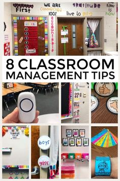 Eight Classroom management tips and ideas that will help you run your classroom in a smooth way. #classroommanagement