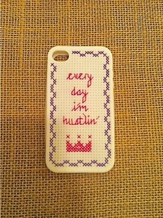 CrossStitch Cell Phone Case for iPhone 4 or 4S