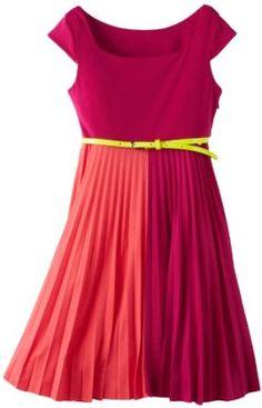 Bonnie Jean Girls 7-16 Fuchsia Colorblock Dress,