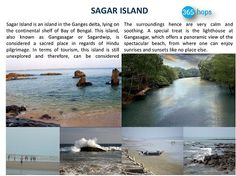 SAGAR ISLAND >> #SagarIsland is an #island in the #Ganges delta, lying on the continental shelf of #BayofBengal. This island, also known as #Gangasagar or #Sagardwip, is considered a sacred place in regards of Hindu pilgrimage. #Sagar #365hops #India