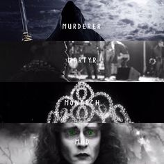 Murderer. Martyr. Monarch. Mad. — queenassofillea:   Murderer, Martyr, Monarch, Mad...