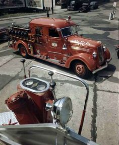 1950's photos of a fire truck station at Middletown New York, very cool trucks | Motor Junkies