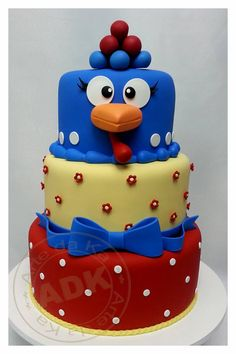 chicken cake, just change the colors!