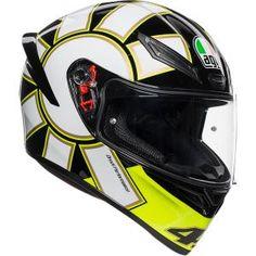 AGV K3 SV Tartaruga Full Face Helmet Black//Green//Yellow LG