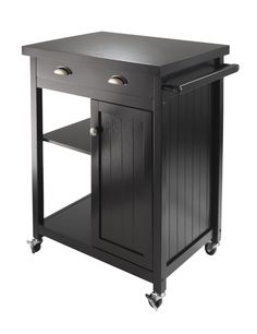 Linon Cameron Kitchen Cart With Granite Top 36 Inches Tall