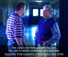 Facing the Giants movie quote. And remember. Rain Quotes, Movie Quotes, Christian Movies, Christian Quotes, Faith Based Movies, Facing The Giants, Inspiration For The Day, Bloom Where Youre Planted, Christian Families
