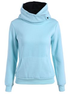 Concise Big Pocket Pullover Hoodie