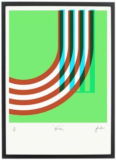 Pedlars Track print via Wee Birdy. #London #Olympics #LondonOlympics