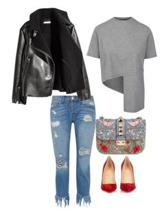 """""""Brunching"""" by xyz-affairs ❤ liked on Polyvore featuring Valentino, 3x1, Christian Louboutin and H&M"""