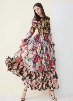 Long Dress Fashion, Fashion Dresses, Plus Size Long Dresses, Silk Evening Gown, Chiffon Dress Long, Collar Dress, Elegant Dresses, Vintage Dresses, Boho Dress