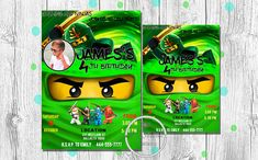 Lego Ninjago Invitation, Lego Ninjago Birthday Invitation, Lego Ninjago Party, Ninjago Lloyd, Lego Ninjago Invite, Printable, Personalized Other invitations & designs can be found here - http://etsy.me/2iNW7S5 OTHER SERVICE - http://etsy.me/2iLaiqG Welcome to Ola Nuance Design