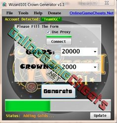 Wizard101 Cheats: Wizard101 Crown Generator 2013 w/ PROOF (No survey! Get your free crowns)    Download the latest Wizard101 Cheats from our website. Wizard101 Crown Generator 2013 and get free crowns to your account. Watch the video for proof. I even bou
