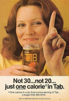 1975 Tab advertisement. for tabby