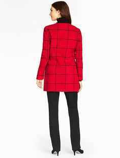 Talbots - Windowpane-Plaid Double-Face Jacket | New Arrivals | Woman
