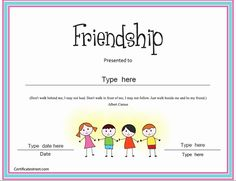 Best Friend Award Certificate Best Of Special Certificates Friendship Certificate Award Certificates, Gift Certificate Template, Certificate Design, Christmas Present Coloring Pages, Friendship Presents, Essay Examples, Templates Printable Free, My Friend, Best Friends