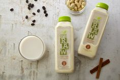 Juice From The Raw Cashew Milk, loaded with vitamins B, E, magnesium, and iron.