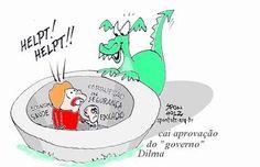 Aprovação a governo Dilma cai e fica em 57%