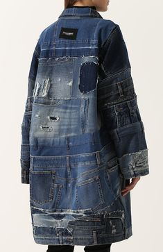 Perfect reworked denim jacket / trench for spring - TheTellMeWhy Refaçonner Jean, Denim Fashion, Fashion Outfits, Estilo Jeans, Mode Mantel, Mode Jeans, Denim Ideas, Recycled Denim, Recycled Fashion
