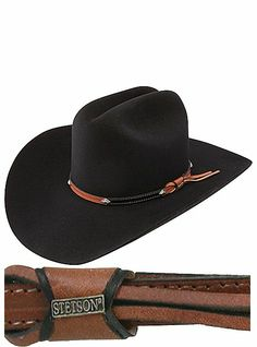 cdc93445820 Stetson Hats - Grant 6X - New Frontiers Collection SFGRNT-4240-07 Black  Cowboy