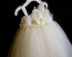 ManaiaBabyDesigns の Manaia Baby Designs Ivory Flower Girl Dresses, Flower Girl Tutu, Baby Girl Dresses, Girls Party Wear, Party Wear Dresses, Vestidos Vintage, Baby Dress Online, Vintage Headbands, Embellished Dress