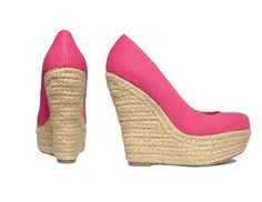 Keep it sweet in these candy-coated espadrilles. Steve Madden Shoes #platfrom #wedges #pink #macys