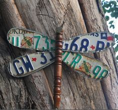 Upcycled Dragonfly from repurposed license plates from repurposed-life, featured by @savedbyloves